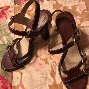 "Michael Kors Chocolate brown 4"" heels sz 6"
